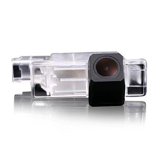 Greatek Caméra de recul pour voiture - Aide au stationnement améliorée avec 8 IR - Vision nocturne - Grand angle de 170 ° - Étanche - Haute définition - Noir - Pour Mercedes Benz