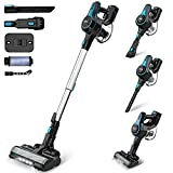 INSE Cordless Vacuum Cleaner Powerful Suction, 6-in-1 Lightweight Handheld Stick Vacuum, Up to 45 Mins Runtime, with Quiet Rechargeable Battery for Home Hard Floor Carpet Pet Hair Car - N5 Black