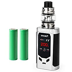 Smok R-Kiss Kit inkl. TFV8 Baby V2 (5 ml) 5000 mAh E-Zigarette E-Shisha Starterset (nikotinfrei) (silber)