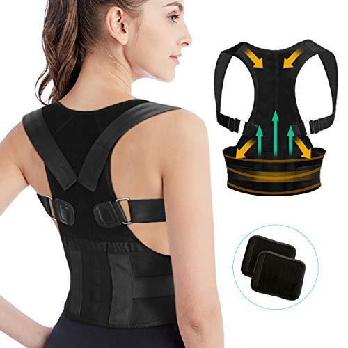 Tencoz Correttore di postura schiena, Regolabile, Unisex - Adulto, L,  Bust: 85-95 cm