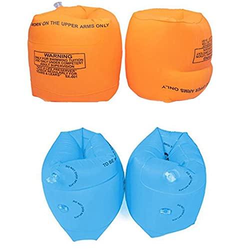 Kids Super Heroes Opblaasbare Zwembandjes Vest Zwemmen Float Vest Voor Kinderen Zwemmen Training Oranje 4 Stuks