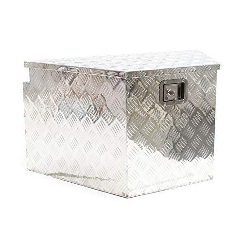 WilTec Tool Box Chequer Plate Site Box Opbergkist Gereedschap Van Aluminium Gas Lente