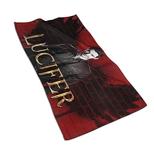 IUBBKI Handtuch Lu-Cifer Super Soft Microfiber Sports Gym Towel Multi-Purpose Workout Hand Towel for Men and Women(27.5×15.7in)