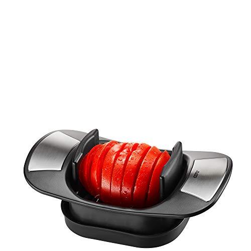 GEFU Tomaten- und Mozzarellaschneider CAPRESE - Scheibenschneider für Tomaten und Mozzarella - mit gezahnten Spezialmessern