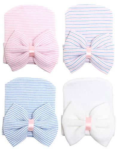 CBOO Gorros Bebé Sombrero Turbante para Bebé Recien Nacido Niña Infantil, Recién Nacido Sombrero Bowknot Cabeza Accesorio Pelo niña (C)