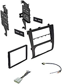 Premium Car Stereo Install Dash Kit, Wire Harness, and Antenna Adapter for Installing an Aftermarket Double Din Radio for 2007-2012 Nissan Altima w/Digital AC - Not Compatible w/Manual Climate,