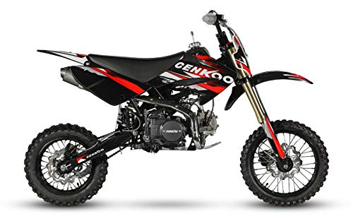 CENKOO-125 125cc Cross Dirt Bike Pit Bike Schwarz/Rot (14/12