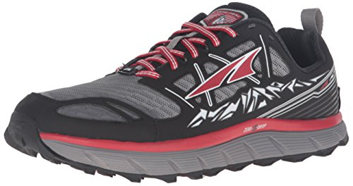 ALTRA Men's Lone Peak 3 Running Shoe, Black/Red, 8 M US