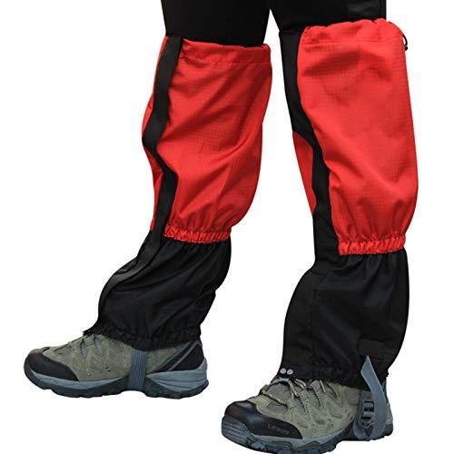 HUOFEIKE 2 pares de polainas a prueba de nieve para senderismo, senderismo y botas de esquí al aire libre, impermeables, para escalada, caza, nieve, legging, cubierta de pierna