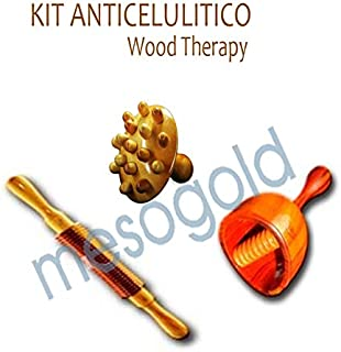 Anti Cellulite Kit Wood Therapy, Improves Blood Circulation, regulates Lymphatic Circulation to Reduce and mobilize The Fat is accumulated.