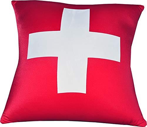 Kuschel-Maxx 5119 Kissen Quadra, Swiss, 31 x 33 x 16 cm, rot