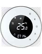 Decdeal Termostato Wi-Fi per Caldaia a Gas,Termostato Digitale,Programmabile Display LCD Touchscreen con Retroilluminazione Funzione di Controllo Vocale,Cronotermostato BHT-6000-GC