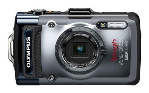 OLYMPUS デジタルカメラ TG-1 シルバー 12m防水 2m耐落下衝撃 -10℃耐低温 耐荷重100kg 1200万画素 F2.0ハイスピードレンズ 裏面照射型CMOS 光学4倍ズーム ハイビジョンムービー 3.0型有機EL 広角25mm TG-1 SLV