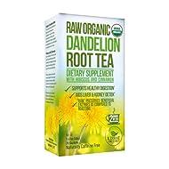 Kiss Me Organics Dandelion Detox Tea – Premium, Organic, Raw Dandelion Root Digestive Tea - Vitamin Rich Teabags to Cleanse & Help Boost Immunity – 1 Pack (20 Bags)