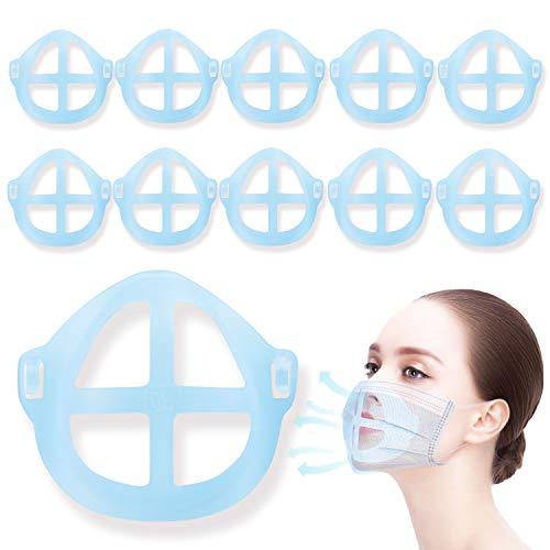 Soporte para máscara 3D[10 PCS]Mask Bracket KarDition[Reutilizable y lavable][Aumente más espacio para respirar][Adaptado para nariz y boca]Soportes de respiración Marco