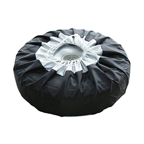 Fundas de rueda de repuesto universales de 13 – 19 pulgadas, protección de neumáticos de repuesto de color negro Oxford, bolsas de almacenamiento a prueba de polvo para ruedas