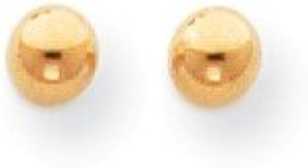14k Gold Polished 4mm Ball Screwback Earrings (0.16 in x 0.16 in)