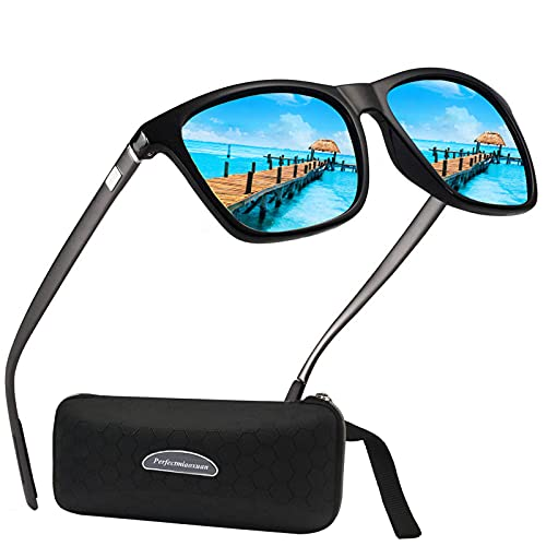 Perfectmiaoxuan Polarisierte Sonnenbrille Herren Damen Sport im Freien Golf Radfahren Angeln Sportbrille Radsportbrillen Fahrerbrille Sonnenbrille (blue)