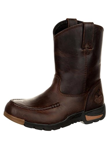 Georgia Boot Athens Big Kids' Pull-On Boot Size 5.5(M) Brown