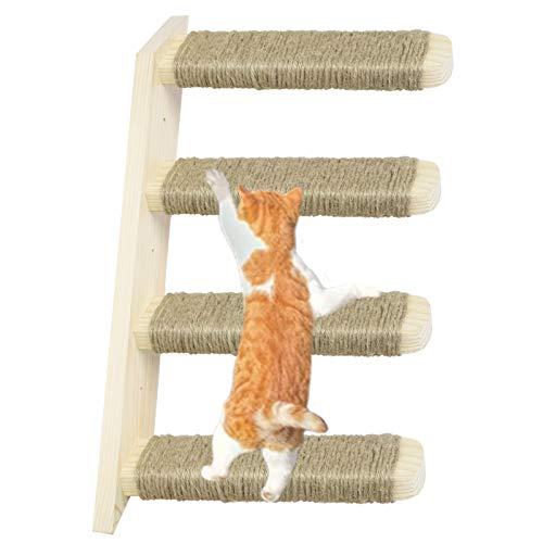 Scala per Gatti per Gatti a Parete Mobili per Gattini Struttura per Scale in Legno Scala Gatti Parete Arrampicata per Gatti in Legno massello e mobili da Gioco per Gatti