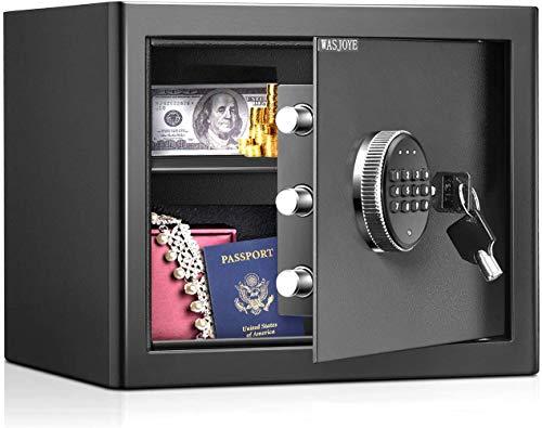 Caja Fuerte (16,9L), Caja Fuerte Convencionales de Seguridad, Caja de Seguridad Anti-Vibración Electroimán (35x25x25 cm)