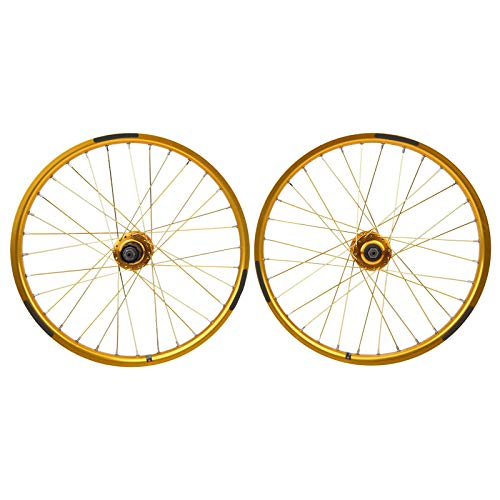 Giny ,Mountain Bike Wheelset, Practical High Reliability BMX Wheel Set, Professionally Manufactured Cycling Accessory, for Mountain Bike Road Bike