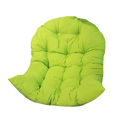 SEN-qiaolu Cojín de Asiento Columpio Cesta Colgante Cojín de Asiento Cojín de sofá Grueso Cojín de sillón Cojín de ratán Cojín de Cuna (120 cm * 80 cm) (Color : Green)