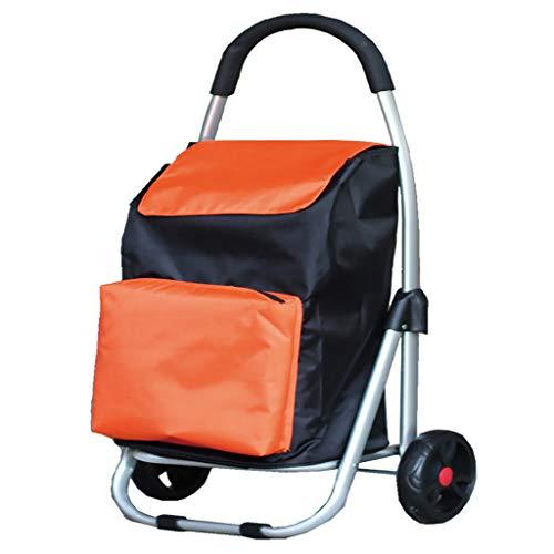 Carritos de la compra Cuerpo plegable de aluminio de aleación, ruedas del...