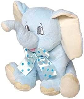 DISOK - Elefante Peluche Lazo Azul
