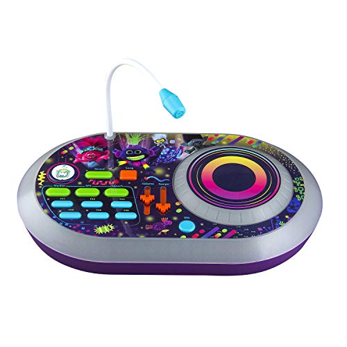 Trolls World Tour DJ Trollex Party Mixer con microfono lungo e luci interattive