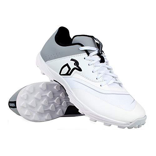 Kookaburra Unisex-Youth KC 3.0 Cricket Rubber Sole Shoes, White/Grey, 5 UK