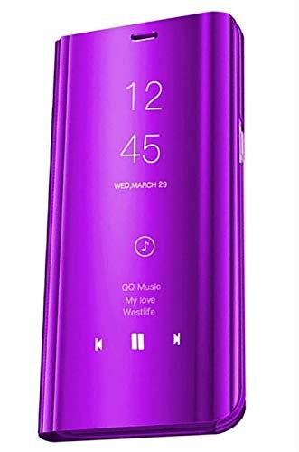 Funda para Samsung Galaxy S9 Plus Cover Espejo Case Clear View Standing Mirror Flip Funda Cartera Ultra Flip Estilo Cuero Libro Funda para Samsung Galaxy S9 Plus