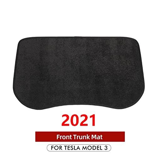 YFBB 2021 Nuevo Modelo 3 Alfombrillas Delanteras para Maletero de Coche, para Accesorios Tesla Modelo 3 Alfombrilla de Almacenamiento Frontal Bandeja de Carga Alfombrilla Protectora 2017-2021