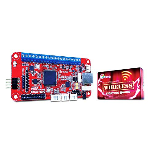 Brook Wireless Fight Board ワイヤレスファイティングボード アーケードコントローラーを無線接続を可能 PS5 PS4 PS3 Switch PC(X-input) に対応 変換基板 ハンダ付け済み 簡単DIY タッチパッド ターボ リマップ