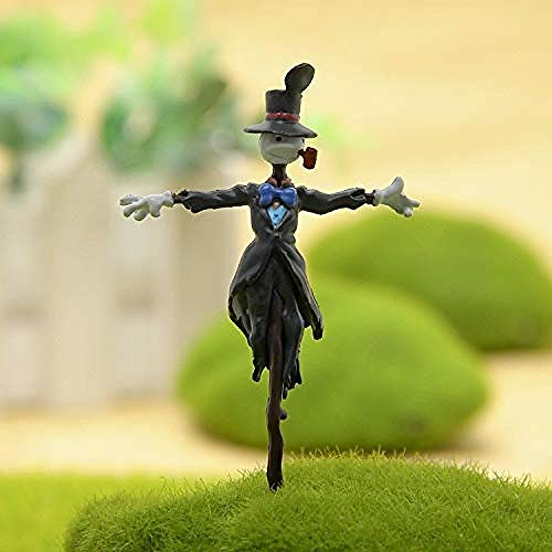 N / A The Hot Studio Moving Studio for Child Landscape Figure with Hat Ghibli Howl Kakashi Kabu Action PVC Figure DIY Miyazaki Toy Model-Open Hat