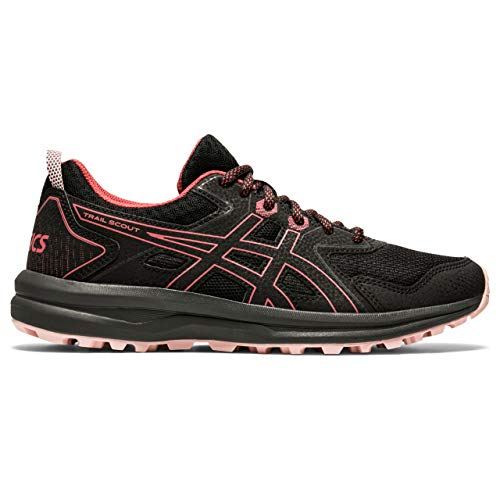 Asics Trail Scout, Sneaker Mujer, Negro/Dried Rose, 38 EU