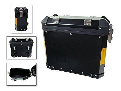 Koffer Tourenkoffer Seitenkoffer Aluminium 31Liter schwarz vormontiert