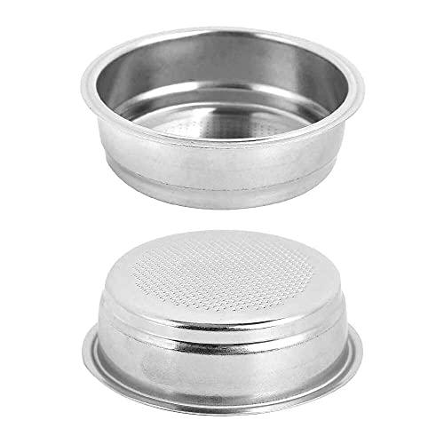 Gmasuber Filtros de café reutilizables, 51 mm de una sola capa de acero inoxidable filtro de máquina de café, cuenco apto para DeLonghi para oficina en casa, sin BPA