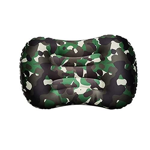 Almohada inflable ultraligente para acampar, compresible, al aire libre acampando al aire libre para descansar y relajar el cojín de la cintura del hombro y el cuello, inflable, cómodo, cobertizo ergo