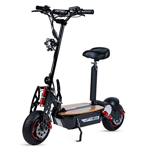 ECOXTREM Sparrow - Scooter Eléctrico de Color Negro,...