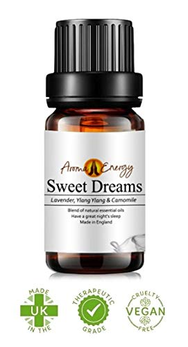 Sweet Dreams Sleep Life Oil (10ml) - Blend of Lavender, Ylang Ylang & Camomile Pure & Natural Essential Oils (Use with Aromatherapy Diffuser, Burner, During Yoga, Meditation, Massage, Bath)