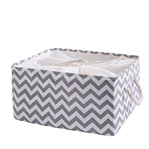 Opvouwbare opbergkist mandje, rechthoekig opvouwbaar doek tweed opbergdoos container organisator kubus W/handgrepen voor kleding, wasserette, kinderspeelgoed