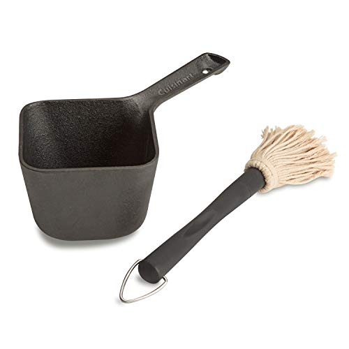 Cuisinart CBP300 Cast Iron Basting Pot and Brushfor Grilling