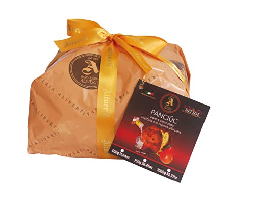 Panettone - Panciuc mit Birne und Schokolade, getränkt mit Likör von Birne - 1kg