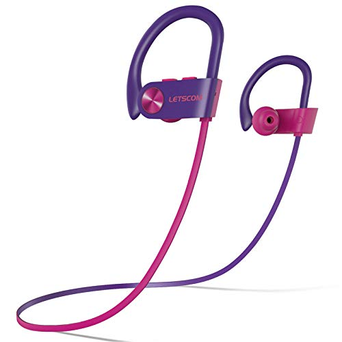 LETSCOM Bluetooth Headphones V5.0 IPX7 Waterproof