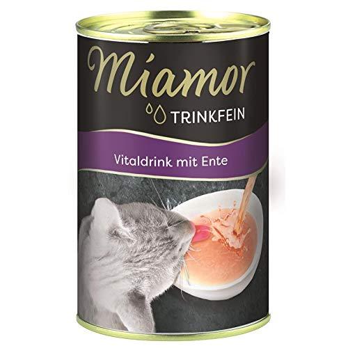Miamor Trinkfein Vitaldrink mit Ente | 24x 135ml Katzenfutter Snacks