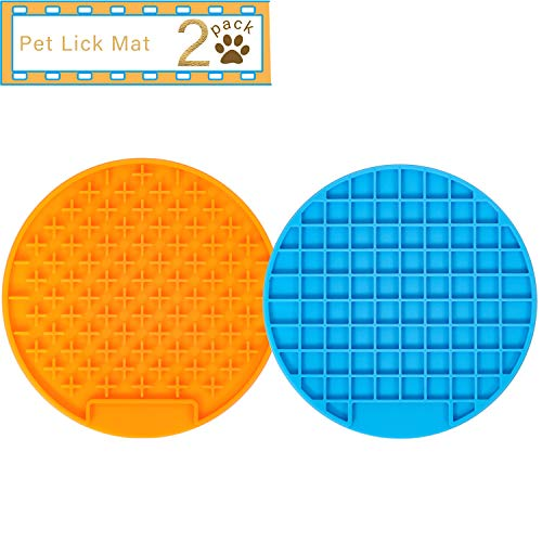 UPSKY Dog Slow Feeder Lick Mat & Cat Food Mat, Super Anti-Skid Slow Feeder Lick Pad, Promote Health...