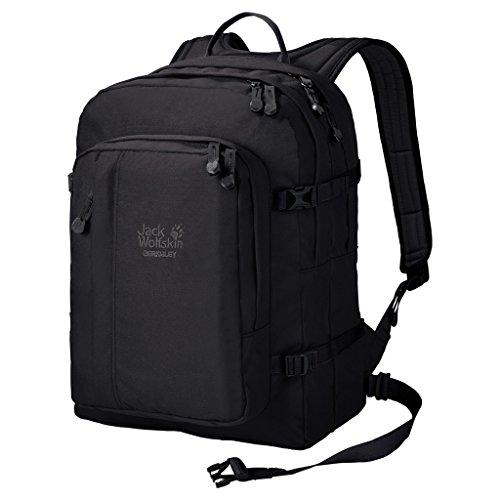 Jack Wolfskin Unisex Berkeley Bookpack Daypack Rucksack, Black, 45x37x3 cm
