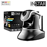 INSTAR IN-6014HD schwarz - WLAN Überwachungskamera - IP Kamera - steuerbar - Innenkamera – Mikrofon – Lautsprecher - Pan Tilt - PIR - Bewegungserkennung - Nachtsicht - Weitwinkel - LAN - RTSP - ONVIF*
