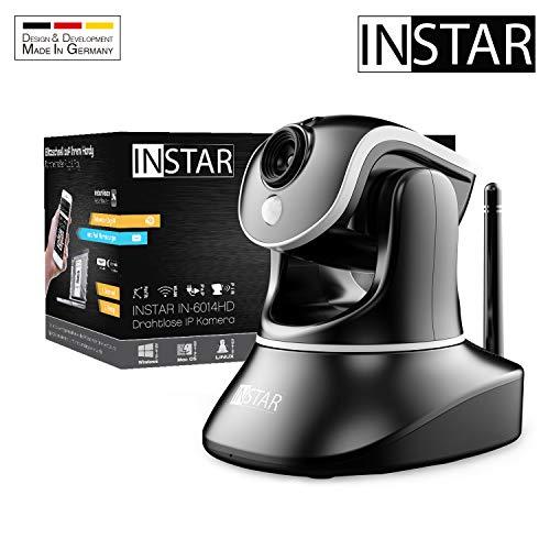 INSTAR IN-6014HD schwarz - WLAN Überwachungskamera - IP Kamera - steuerbar - Innenkamera – Mikrofon – Lautsprecher - Pan Tilt - PIR - Bewegungserkennung - Nachtsicht - Weitwinkel - LAN - RTSP - ONVIF